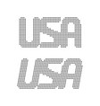 simple usa text from black dots vector image