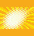spot light on the yellow retro background vector image vector image