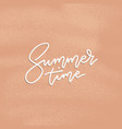 summer time poster flyer with lettering vector image vector image