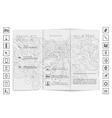 Tri-Fold Brochure mock up design vector image vector image