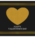 Valentines Day Greeting Card Golden Heart vector image vector image
