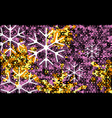 white and violet transparent snowflake christmas vector image vector image