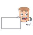with board medical gauze character cartoon vector image