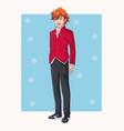young man manga anime vector image vector image