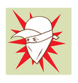 Protester s face symbol vector image