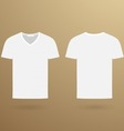 Blank v t-shirt template Front and back vector image