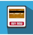 Flat Design With Tablet With Credit Card vector image