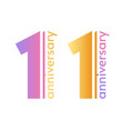 1 year anniversary logo template and number one