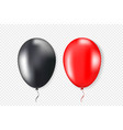 3d realistic colorful balloons set vector image