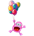 A happy monster with balloons vector image vector image