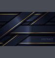 abstract navy and gold lines overlap layer vector image vector image