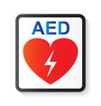aed automated external defibrillator vector image