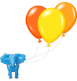 African elephant with balloons vector image