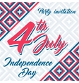 american independence day 4th july background vector image vector image