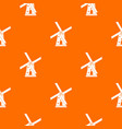 ancient windmill pattern seamless vector image vector image