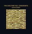 big set of gold gradient templates shiny vector image