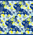 chaotic geometric seamless pattern vector image vector image