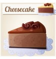 Chocolate cheesecake Detailed Icon vector image vector image