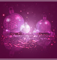 christmas card purple pink with a set of vector image