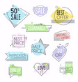 collection premium promo sealsstickers vector image