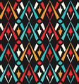 colored geometric seamless pattern vector image