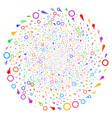 confetti stars swirl rotation vector image vector image