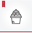 cream icon in modern style for web site and vector image vector image