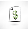 dollar sign grunge icon vector image vector image