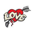 doodle for love concept vector image vector image