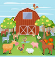 Farm with animals vector image vector image