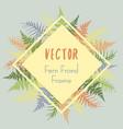 fern frond rhombus frame vector image