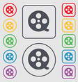 Film icon sign symbol on the Round and square vector image vector image