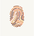 fingerprint many different skin tones vector image