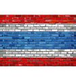 Flag of Thailand on a brick wall vector image