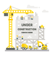 Flat design construction site sign vector image vector image