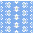 Floral seamless pattern with flat line icons of