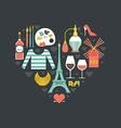 French Symbols vector image vector image