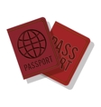 full color with passport with circle label vector image