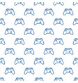 gamepad outline geometric seamless pattern vector image vector image