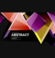 glossy squares and triangles geometric backgrounds vector image vector image