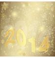 Golden Christmas frame vector image vector image