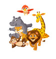 group of wild animals vector image vector image