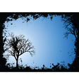 grunge trees vector image vector image