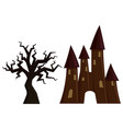 halloween castle vector image