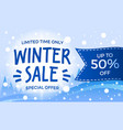 limited time winter sale banner isometric style vector image
