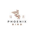 line art phoenix logo design template vector image vector image