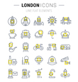 London Line Icons 7 vector image vector image