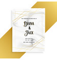 luxury wedding invitation card design with marble vector image vector image