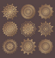 mandala design elements collection vector image vector image