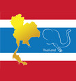 map of thailand card paper 3d natural vector image vector image